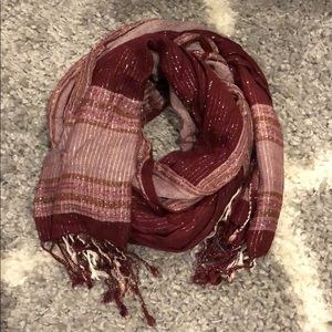 Accessories - Pre-loved flowy burgundy pink scarf